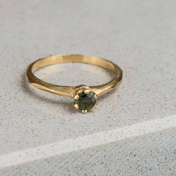 Trade Yellow Gold & Green Sapphire Ring in Toronto